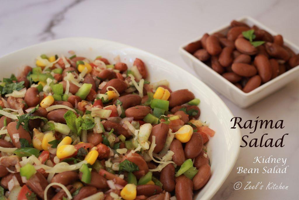 Rajma Salad | Kidney Bean Salad | Easy Rajma Salad