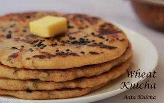 Wheat Kulcha on Tawa   Whole Wheat Flour Kulcha Recipe   Atta Kulcha on Tawa   No Maida No Oven Kulcha Recipe