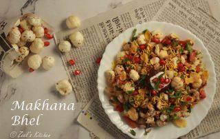 Makhana Bhel   Fox Nut Bhel   Healthy Fox Nut chaat Recipe