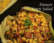 Paneer Corn Salad | Healthy Corn Cottage Cheese Salad | Easy Paneer Corn Salad