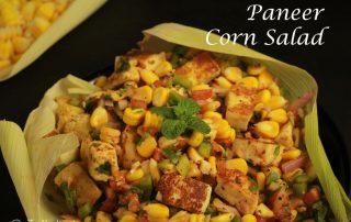 Paneer Corn Salad   Healthy Corn Cottage Cheese Salad   Easy Paneer Corn Salad