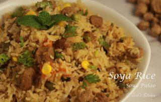 Soya Rice Recipe   Easy Soya Pulao Recipe