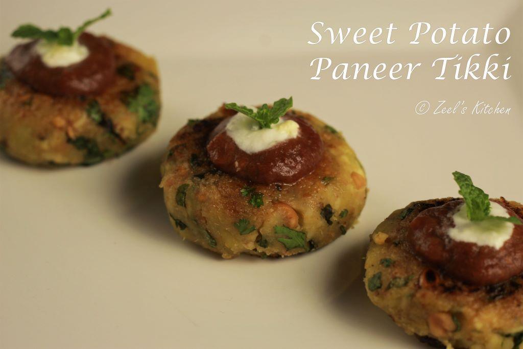 Sweet Potato and Paneer Tikki Recipe | Shakkargand and Paneer Tikki for Vrat